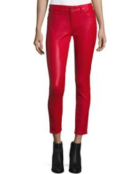 DL1961 - Ankle Leather Trousers - Lyst