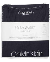 Calvin Klein Comfort Fleece Sleep 3-piece Pyjama Set - Red
