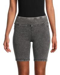 Marc New York Mid-rise Denim-effect Bike Shorts - Black