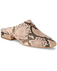 Pour La Victoire - Sebina Leather Snake-print Mules - Lyst