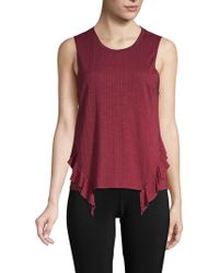 BCBGeneration - Ruffle-trimmed Tank Top - Lyst