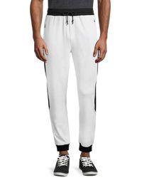 Karl Lagerfeld Men's Colorblock Jogger Trousers - Light Grey - Size M