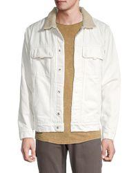 Hudson Jeans Faux Fur-trimmed Denim Jacket - Natural