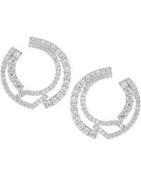 Adriana Orsini Silvertone & Cubic Zirconia Front-facing Hoop Earrings - Multicolor