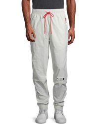 PUMA Men's Parquet Drawstring Pants - Gray - Size L