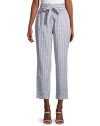 BCBGeneration High-rise Tie Front Trousers - Blue