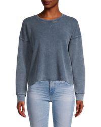 Splendid Crewneck Cotton-blend Sweatshirt - Blue