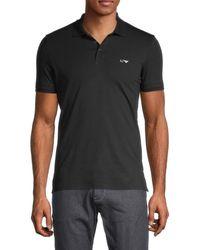 Armani Jeans Men's Stretch-cotton Polo - Black - Size M