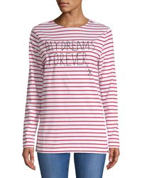 Each x Other Striped Long-sleeve Tee - Red
