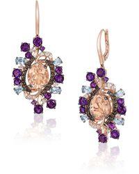 Bavna 14k Strawberry Gold®, Peach Morganitetm, Neopolitan Opaltm & Vanilla Diamonds® - Multicolor