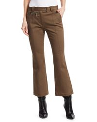 Proenza Schouler Cropped Flare Pants - Brown