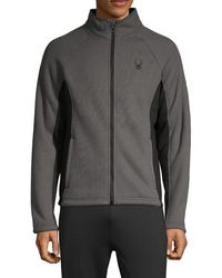 Spyder Colorblock Full-zip Jacket - Gray