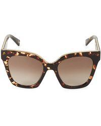Marc Jacobs 52mm Cat Eye Sunglasses - Brown