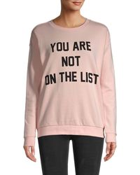 South Parade Not On The List Cotton Sweatshirt - Pink