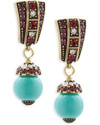 Heidi Daus - Faux Pearl And Crystal Drop Earrings - Lyst
