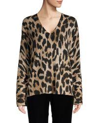 360cashmere Women's Leopard Cashmere Sweater - Leopard - Size S - Multicolor