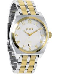 Nixon Monopoly Two-tone Stainless Steel Watch - Metallic