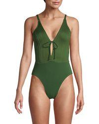 Robin Piccone Cutout 1-piece Swimsuit - Green