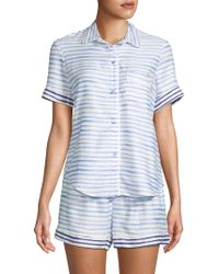 Jane And Bleecker - Two-piece Striped Shorty Pajama Set - Lyst