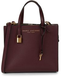 Marc Jacobs Mini Grind Coated Leather Satchel - Black