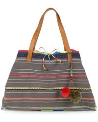 Star Mela - Chindi Embroidered Tote - Lyst