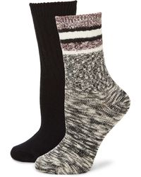 Hue Women's Textured Boot Socks - Black