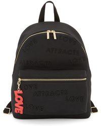 Peace Love World Classic Tonal Print Backpack - Black