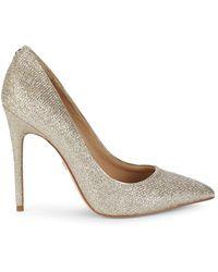Sam Edelman Women's Danna Glam Mesh Court Shoes - Light Gold - Size 6 - Metallic