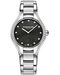 Raymond Weil Noemia Diamond Embellished Silvertone Watch - Black