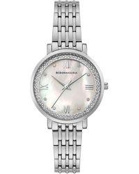BCBGMAXAZRIA Classic Stainless Steel & Crystal Bracelet Watch - Gray