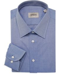 Armani Textured Dress Shirt - Blue