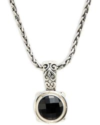 Effy Women's 18k Yellow Gold, Sterling Silver & Onyx Pendant Necklace/17 - Metallic