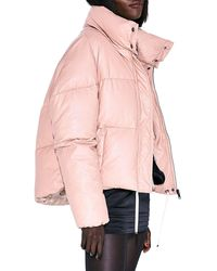 Apparis Camila Oversized Vegan Leather Puffer - Pink