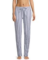 Onia - Ella Striped Linen & Cotton Pants - Lyst