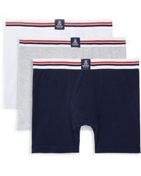 Psycho Bunny 3-pack Motion Boxer Briefs - Blue