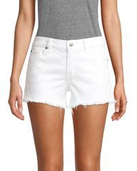 7 For All Mankind Cut-off Denim Shorts - White