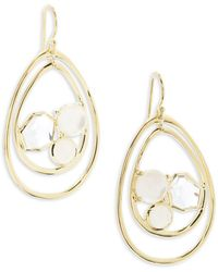 Ippolita - Rock Candy Multi-stone And 18k Gold Pear Shaped Wire Earrings - Lyst