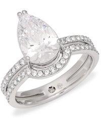 Adriana Orsini - Women's Celeste Teardrop Crystal Ring/size 6 - Size 6 - Lyst