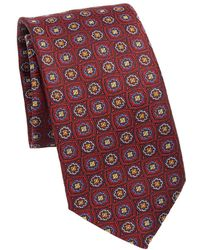 Saks Fifth Avenue - Collection Floral Check Silk Tie - Lyst