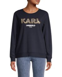 Karl Lagerfeld Karl Sparkle Sweatshirt - Blue