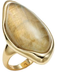 Alexis Bittar Lucite 10k Goldplated Ring - Metallic