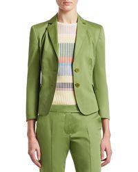 Akris Punto Two-button Cotton-blend Blazer - Green