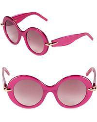 Pomellato - 51mm Oval Sunglasses - Lyst