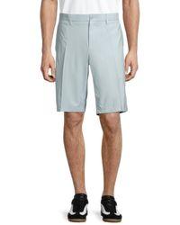 J.Lindeberg Men's Somle Tapered Flat-front Shorts - Stone Grey - Size 38