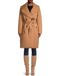 Avec Les Filles Double-breasted Quilted Coat - Multicolour