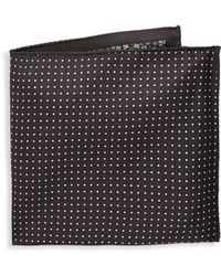 Saks Fifth Avenue - Dotted Silk Pocket Square - Lyst