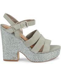 Sam Edelman Liora Strappy Platform Sandals - Multicolour