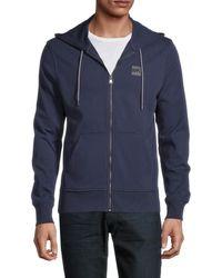 Michael Kors Men's Cotton-blend Hoodie - Black - Size S