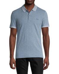 Lacoste Men's Slim-fit Geometric Polo - Flour - Size 7 (xxl) - Blue