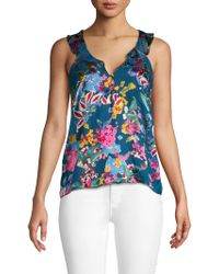 Saloni - Bethany Floral Top - Lyst
